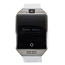 Q18 Fashion Smart Watch Phone - 128MB ROM - 64MB RAM - 1.4MP Camera Silver on White