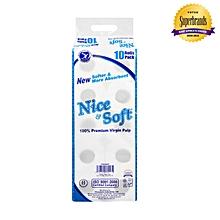 2 Ply Premium Unwrapped White Toilet Tissue - 10 Pack