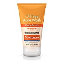 Oil-Free Acne Wash Daily Scrub 124ml