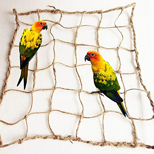 New Parrot Birds Climbing Net Jungle Rope Animals Toy Swing Ladder Chew Bathroom Hardware