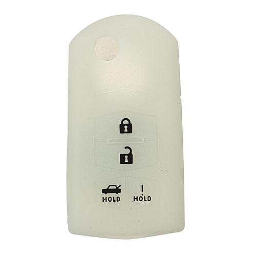 Rubber Flip Key Fob Cover Case For MAZDA 3 5 6 CX-7 CX-9 RX-8 MX-5 Miata  4Button Luminous