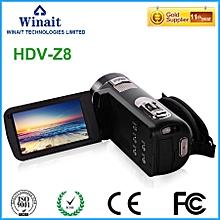 Super 24mp full hd 1080p digital video camera HDV-Z8 5.1M CMOS USB 2.0/TV/MSDC/HDMI output portable china pro digital camcorder  LIEGE