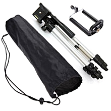 Hequeen Professional Camera Tripod Stand Holder Mount For Cell Phone And Camera +Bag