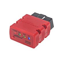 KW902 Bluetooth ELM327 16 Pin V1.5 Chip OBD 2 Automotive Scanner Full Diagnosis Scanner (Red Color) LBQ