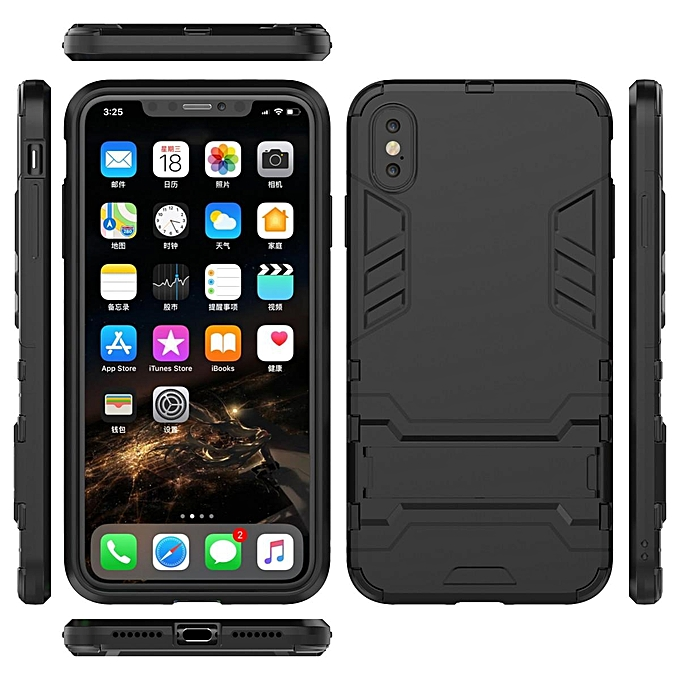 pretty nice a533e cb412 For IPhone XS Max Case, Iron Man Armor NEW [Heavy Duty] Premium Tactical  Grip Kickstand Shockproof Bumper [Military Defender] Full Body Rugged Cover  ...