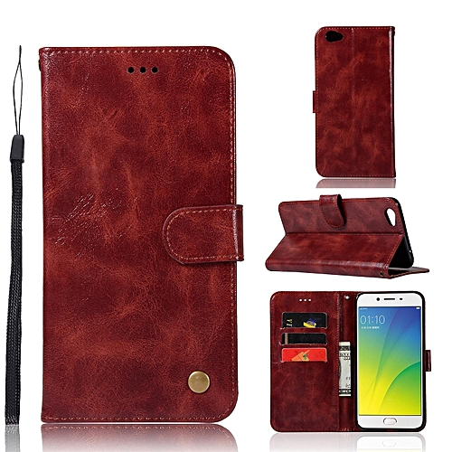 finest selection b1672 effaf Casing For OPPO R9s,Reto Leather Wallet Case Magnetic Double Card Holder  Flip Cover