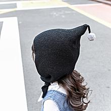 400742ea67bec jiuhap store Baby Toddler Kids Boy Girl Knitted Crochet Beanie Winter Warm Hat  Cap-Black
