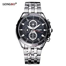 8650 Luxury Men Watches Stainless Steel Strap Sports Quartz Wristwatch Male Alloy Leisure Man Watch - Black