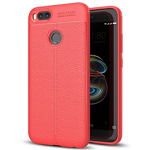 For Xiaomi MI A1 Case, Shockproof Silicone PU Leather Back Cover Soft TPU  Phone Casing
