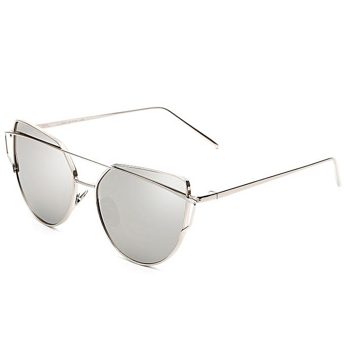 214938d0372 Men And Women Retro Style Sunglasses New Metal Color Film Glasses- Silver  Frame White Mercury