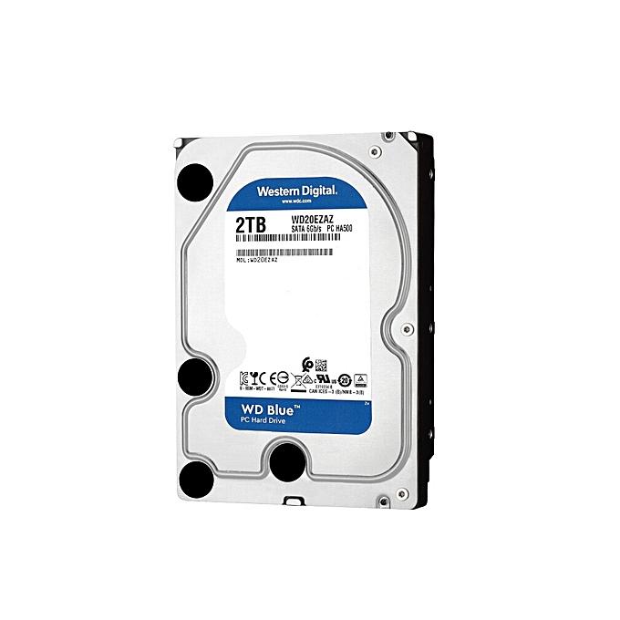 Western Digital WD Blue 2TB Desktop HDD Internal Hard Disk Drive 5400 RPM  SATA 6Gb/s 64MB Cache 3 5-inch WD20EZAZ