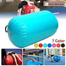 Inflatable Air Roller Home Large 105x90cm Gymnastics Cylinder GYM Gymnastic Beam mint green