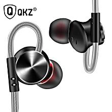 Earphone Earphones QKZ DM10 Zinc Alloy HiFi Earphone s fone de ouvido Metal DJ MP3 Headset auriculares audifonos PRI-P
