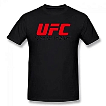 Ufc Logo Summer Basic Casual Short Cotton T-Shirt(Regular And Big And Tall Sizes Included)
