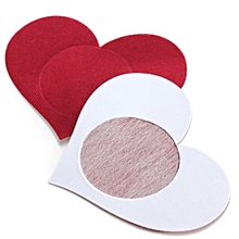 Disposable Sexy Love Heart Adhesive Breast Nipple Cover (Red)