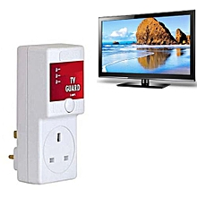 Voltage Protection TV GUARD Adapter - White