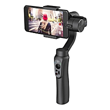Smooth Q 3-Axis Handheld Brushless Gimbal for Smartphone within 6.0 Inch GoPro Hero3/4/5 - Jet Black