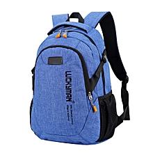 jiuhap store Backpack canvas Travel bag Backpacks Unisex laptop bags Designer student bag-blue