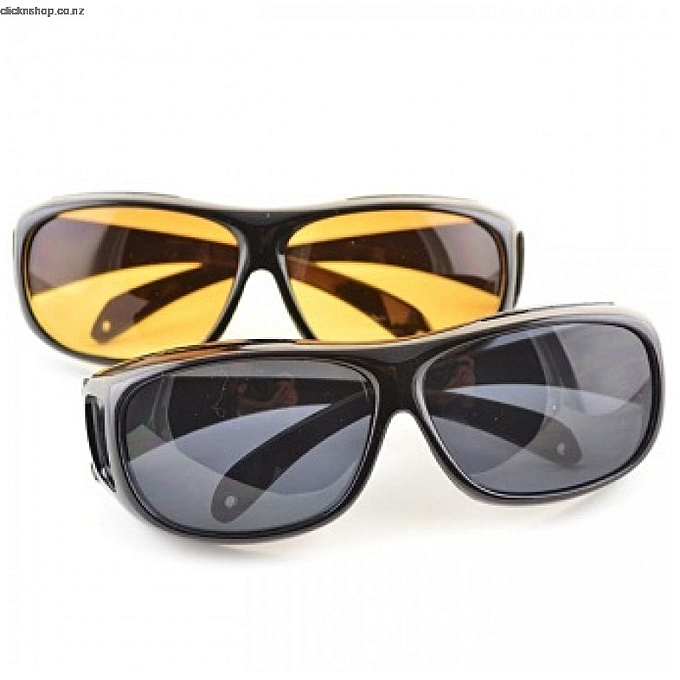 36a8826506d2 HD Polarized Day And Night vision anti-glare Driving Glasses- Black And  Yellow