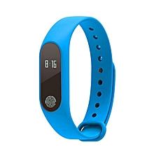 M2 Smart Watch Heart Rate Monitor Pedometer Call Reminder Sport Wristband blue