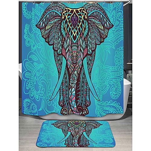 Generic Bohemian Elephant Shower Curtain And Rug