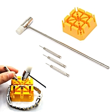 Watch Repair Band Link Remover Tool Kit - Hammer Punch Pins Watch Strap Holder
