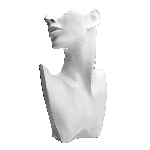 Generic Resin Mannequin Necklace Earring Jewelry Display Head Bust Stand Holder Rack