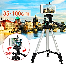 2Pcs Stretchable Camera Tripod Stand Mount Holder for iPhone Samsung Cell Phone +Bag