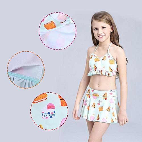Buy Universal 3pcs Kids Girls Swimsuit Set Bikini Vest Swimwear