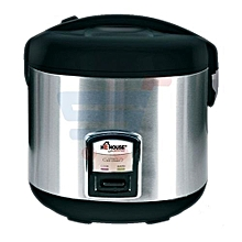 Rice Cooker 2L -   Silver and Black