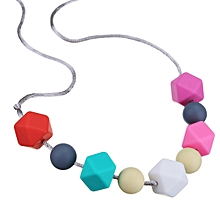 Baby Chew Jewelry Silicone Nursing Teething Beads DIY Chewable Necklace Teethe