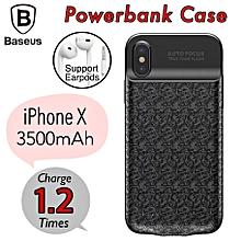 Baseus iPhone X [3500mAh] Powercase Powerbank Power Bank Case Battery Wireless Backup Casing  LJMALL