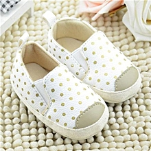 bluerdream-Baby Boy Girl Leather Upper Shoes Anti-Slip Soft Shoes Beige/12-As Shown