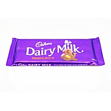 Dairy Milk Chocolate Fruit & Nuts 150 Grams