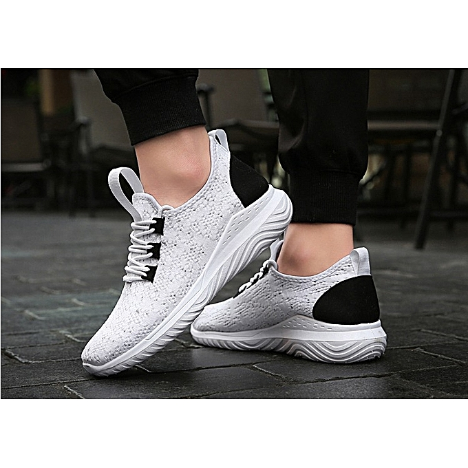 64a6d6af00 Autumn New Fly Woven Sneakers Men s Shoes Korean Version Of Casual Shoes  Trend Running Shoes