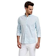 Blue Fashionable Skinny Shirt