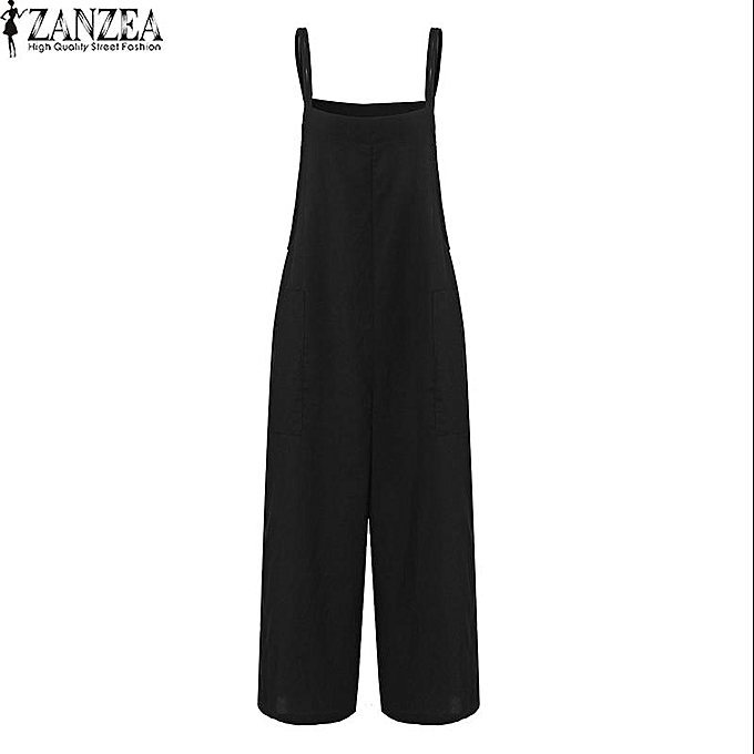 Buy Zanzea Zanzea Womens Sleeveless Wide Leg Jumpsuits Romper