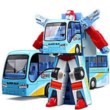 New Variable Robot Bus Transform Figure Toddler Model Educational Toy Kids Gift #blue