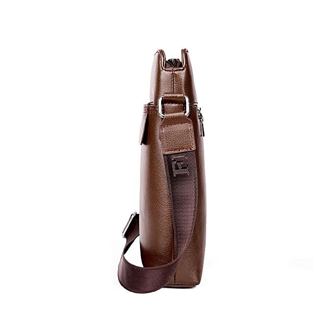 f1b6e4c8ae2b ... Men Soft PU Leather Business Shoulder Bag Casual Messenger Bag Office  Bag ...