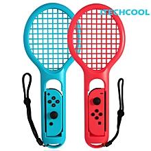 LEBAIQI 2pcs Gaming Sensor ABS Tennis Racket Handle Controller for Nintend Switch