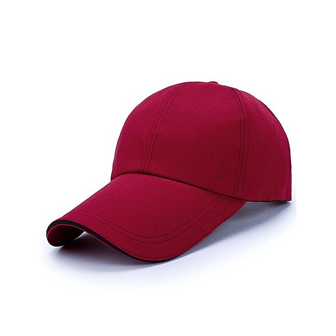 f12cab35e Men Women Baseball Cap Outdoor Sun Hat Casual Hip Hop Adjustable Caps  Snapback Unisex Fashion Long Visor Brim Hat Male Casquette