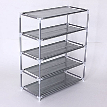 Metal Shoe Rack Storage Organizer Stand Fabric Shelf Holder Stackable Closet