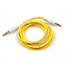 Fovibery 3.5mm Stereo Car Auxiliary Audio Cable Male To Male For Smart Phone YE