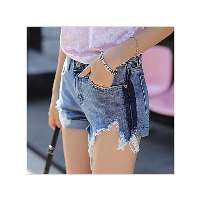 630db8ffde Hot Pants Women Frayed Short Jeans Burr Denim Shorts Casual Beach Slim  Trouser Ladies Short Pants