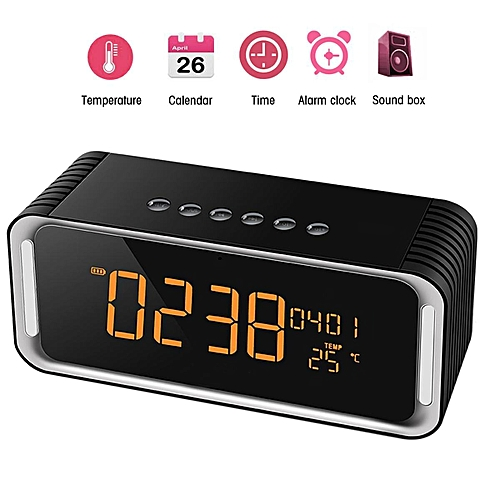 Bluetooth Desk Clock Speaker Tempreture Radio With Low Harmonic Distortion And Superior Sound