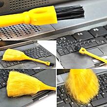Mini Desktop Keyboard Cleaning Scanner Anti-Static Vehicle Powder Brush-Yellow