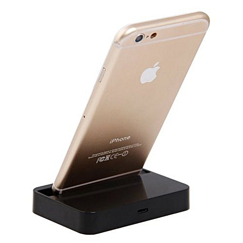 new product 84fda 4bd56 Charger Docking Station Cradle Charging Sync Dock Station For Apple IPhone  6 Plus 6 5 5S 5C Black