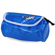 Solid Color Water Resistance Bike Front Beam Bag Blue
