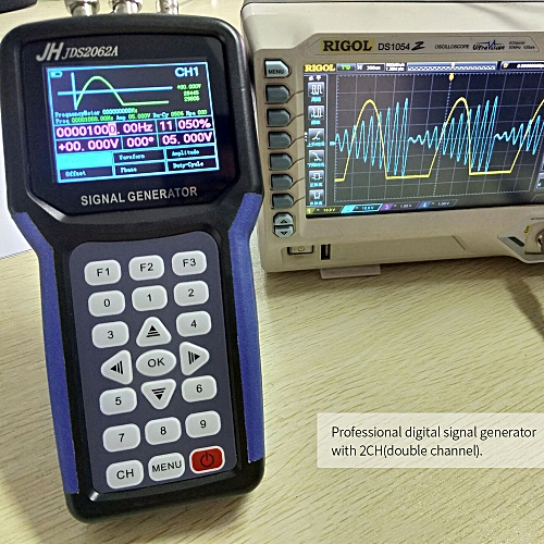 JINHANIC Handheld 2 Channel Digital Signal Generator Portable Frequency  Sweep Meter 30MHz Output 2CH 3 2