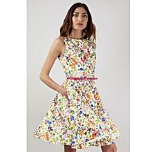 Floral Sleeveless Skater Dress
